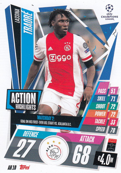 #AH10 Lassina Traoré (AFC Ajax) Match Attax EXTRA 2020/21 ACTION HIGHLIGHTS