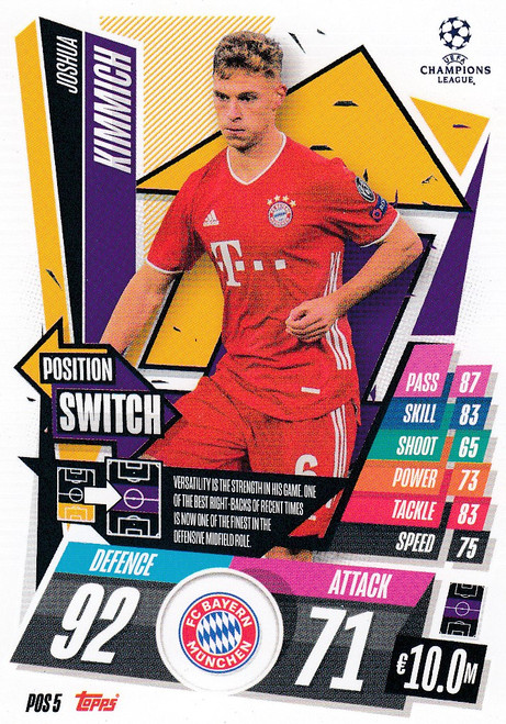#POS5 Joshua Kimmich (FC Bayern München) Topps Match Attax EXTRA 2020/21 collection - POSITION SWITCH