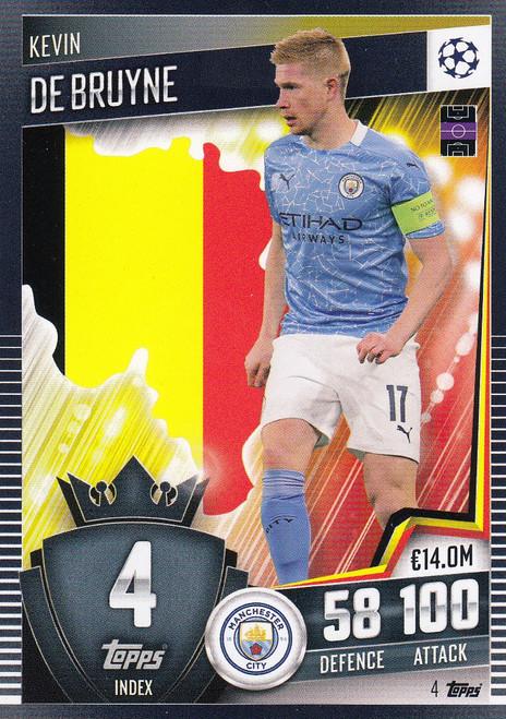 #4 Kevin De Bruyne (Manchester City) Match Attax 101 2020/21