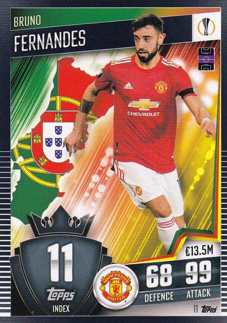 #11 Bruno Fernandes (Manchester United) Match Attax 101 2020/21