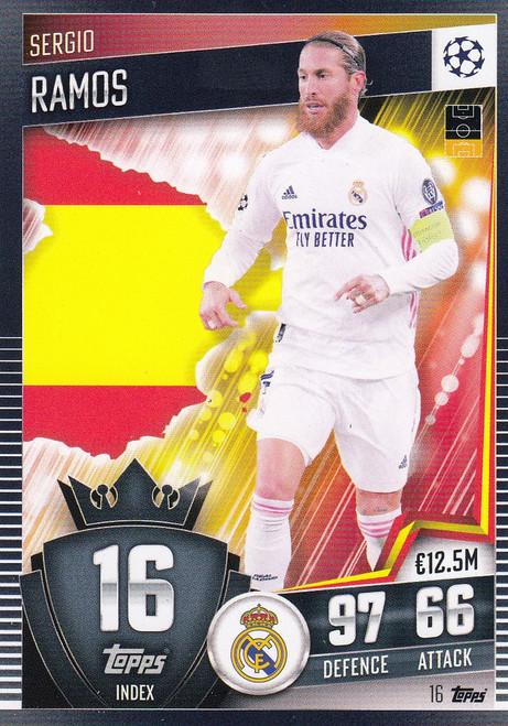 #16 Sergio Ramos (Real Madrid CF) Match Attax 101 2020/21