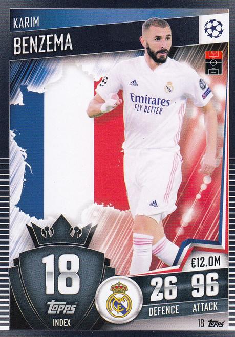 #18 Karim Benzema (Real Madrid CF) Match Attax 101 2020/21
