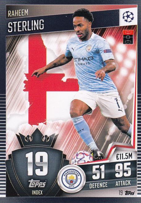 #19 Raheem Sterling (Manchester City) Match Attax 101 2020/21