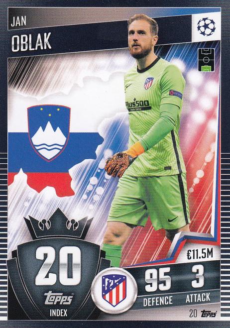 #20 Jan Oblak (Club Atlético de Madrid) Match Attax 101 2020/21