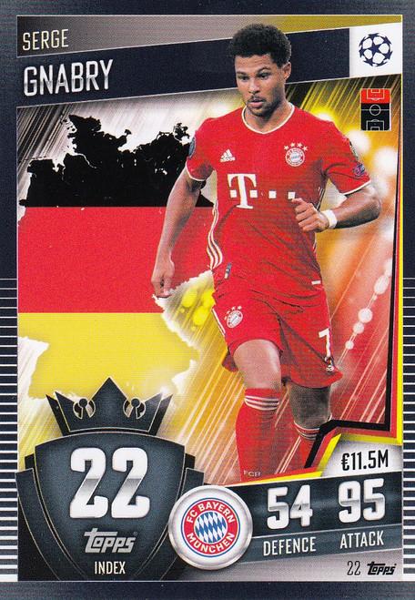 #22 Serge Gnabry (FC Bayern München) Match Attax 101 2020/21