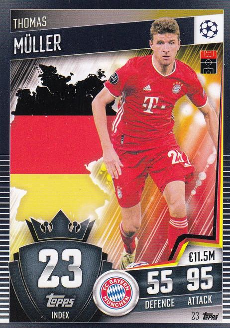 #23 Thomas Müller (FC Bayern München) Match Attax 101 2020/21