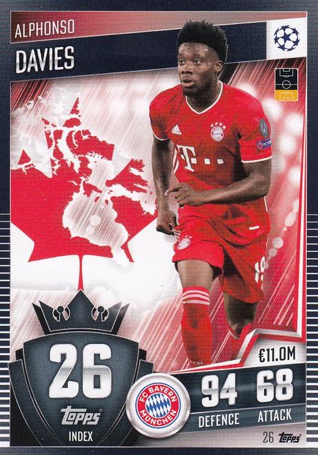 #26 Alphonso Davies (FC Bayern München) Match Attax 101 2020/21