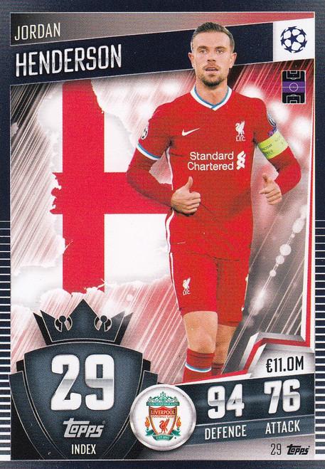 #29 Jordan Henderson (Liverpool) Match Attax 101 2020/21