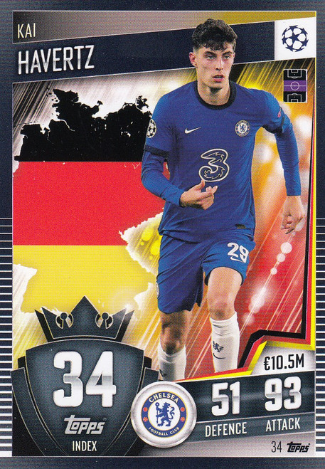 #34 Kai Havertz (Chelsea) Match Attax 101 2020/21