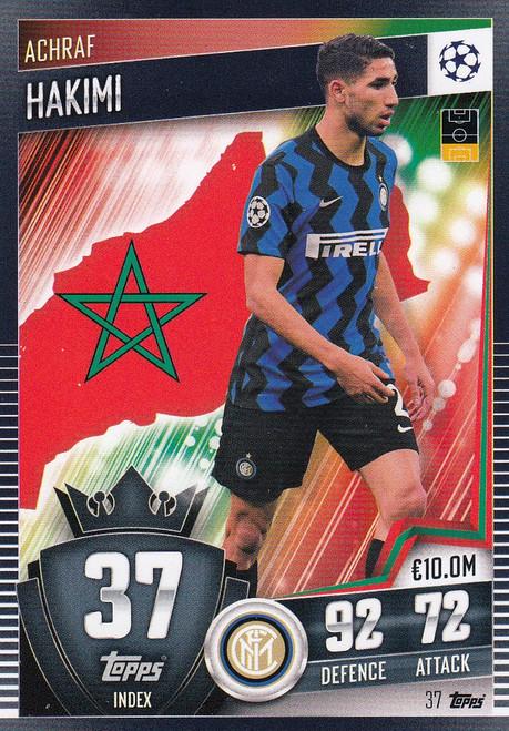 #37 Achraf Hakimi (FC Internazionale Milano) Match Attax 101 2020/21