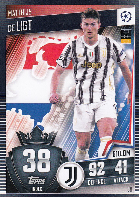 #38 Mathijs de Ligt (Juventus) Match Attax 101 2020/21