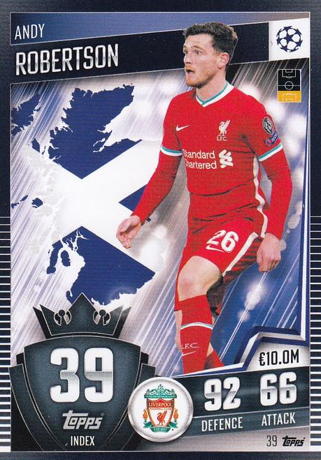 #39 Andrew Robertson (Liverpool) Match Attax 101 2020/21