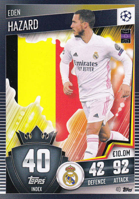 #40 Eden Hazard (Real Madrid CF) Match Attax 101 2020/21