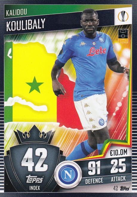 #42 Kalidou Koulibaly (SSC Napoli) Match Attax 101 2020/21