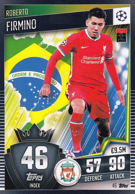 #46 Roberto Firmino (Liverpool) Match Attax 101 2020/21