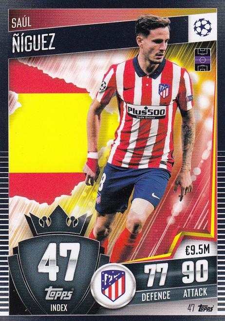 #47 Saúl Ñíguez (Club Atlético de Madrid)  Match Attax 101 2020/21