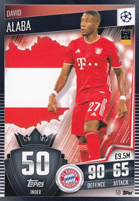 #50 David Alaba (FC Bayern München) Match Attax 101 2020/21