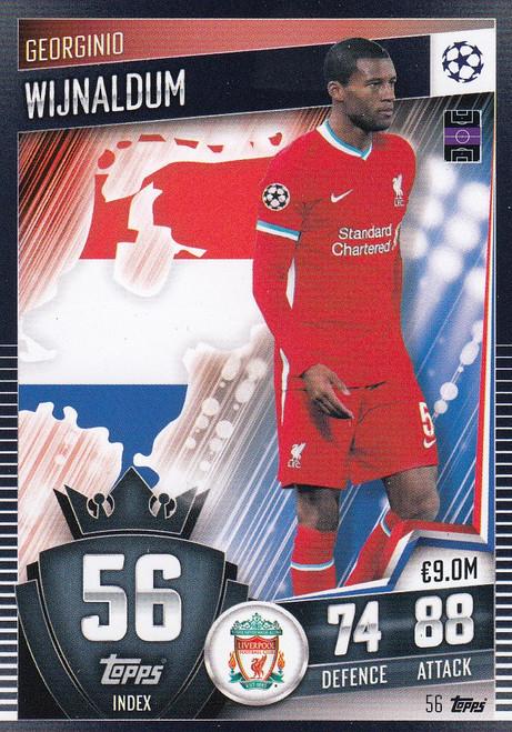 #56 Georginio Wijnaldum (Liverpool) Match Attax 101 2020/21