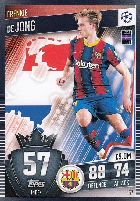 #57 Frenkie de Jong (FC Barcelona) Match Attax 101 2020/21