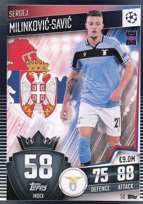 #58 Sergej Milinković-Savić (SS Lazio) Match Attax 101 2020/21