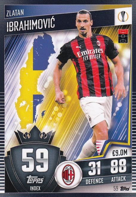 #59 Zlatan Ibrahimović (AC Milan) Match Attax 101 2020/21