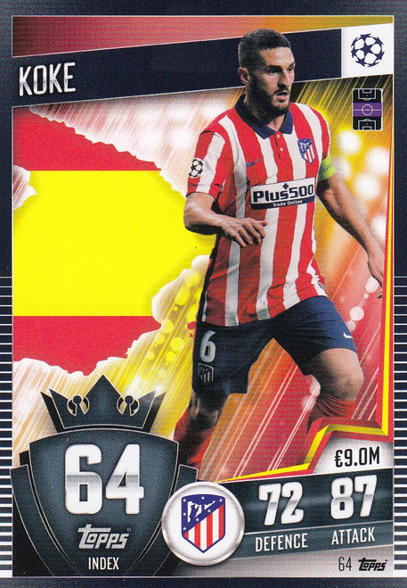 #64 Koke (Club Atlético de Madrid) Match Attax 101 2020/21