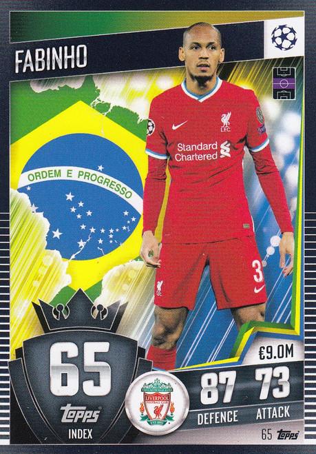 #65 Fabinho (Liverpool) Match Attax 101 2020/21