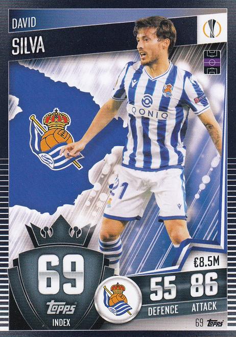 #69 David Silva (Real Sociedad) Match Attax 101 2020/21