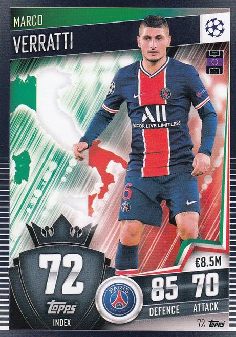 #72 Marco Verratti (Paris Saint-Germain) Match Attax 101 2020/21