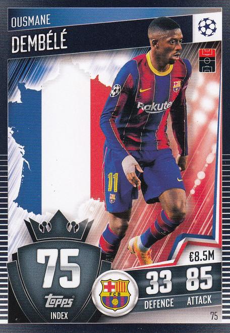 #75 Ousmane Dembélé (FC Barcelona) Match Attax 101 2020/21