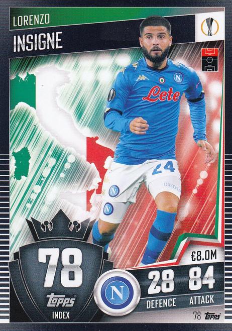 #78 Lorenzo Insigne (SSC Napoli) Match Attax 101 2020/21
