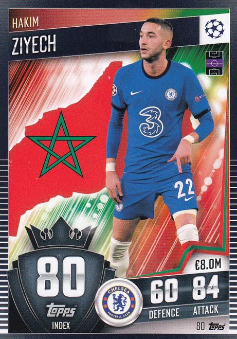 #80 Hakim Ziyech (Chelsea) Match Attax 101 2020/21