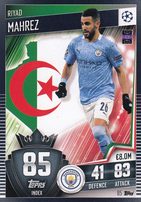 #85 Riyad Mahrez (Manchester City) Match Attax 101 2020/21