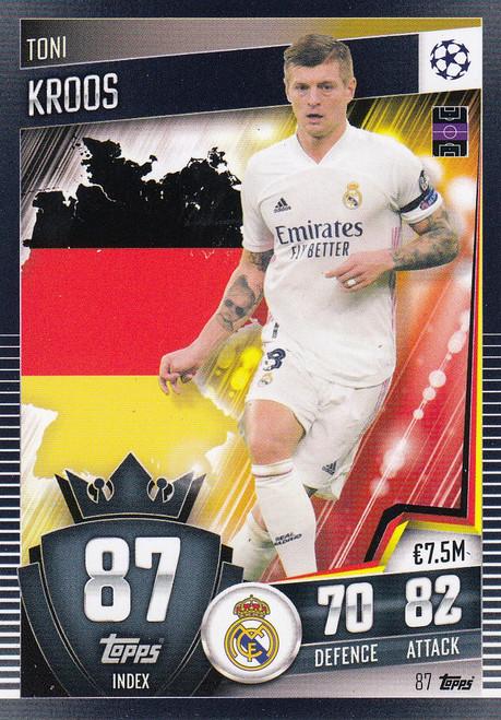 #87 Toni Kroos (Real Madrid CF) Match Attax 101 2020/21