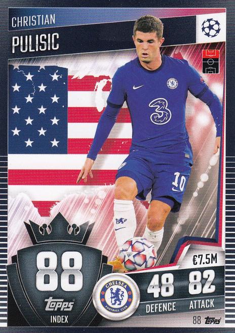#88 Christian Pulisic (Chelsea) Match Attax 101 2020/21