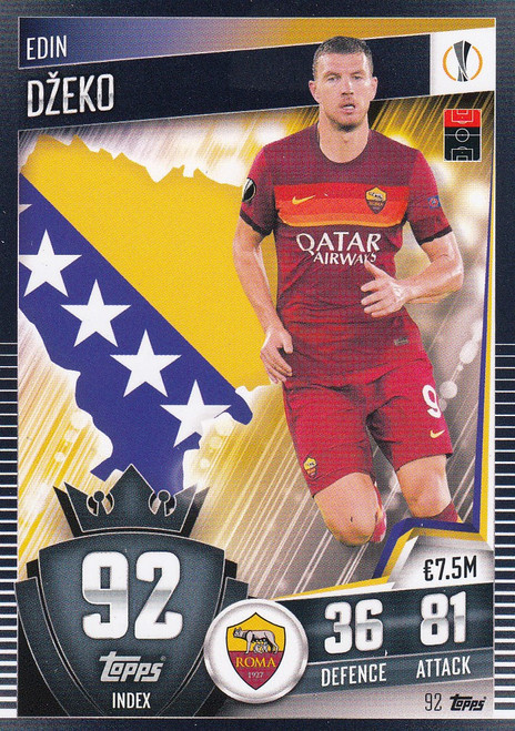 #92 Edin Džeko (AS Roma) Match Attax 101 2020/21