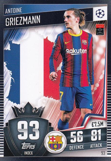 #93 Antoine Griezmann (FC Barcelona) Match Attax 101 2020/21