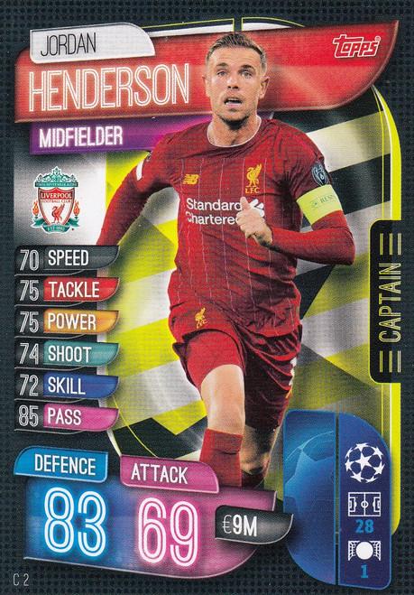 #C2 Jordan Henderson (Liverpool FC) Match Attax EXTRA 2019/20 CAPTAIN
