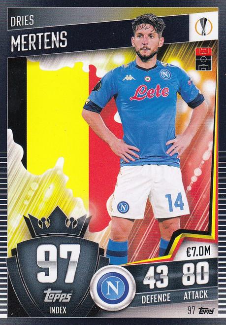 #97 Dries Mertens (SSC Napoli) Match Attax 101 2020/21