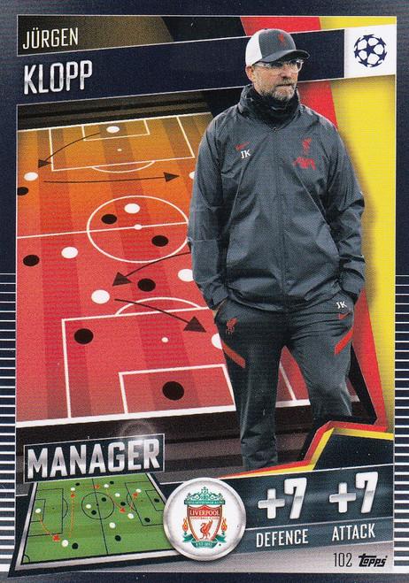 #102 Jürgen Klopp (Liverpool) Match Attax 101 2020/21 MANAGER