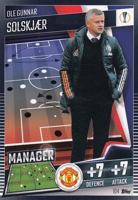 #104 Ole Gunnar Solskjaer (Manchester United) Match Attax 101 2020/21 MANAGER