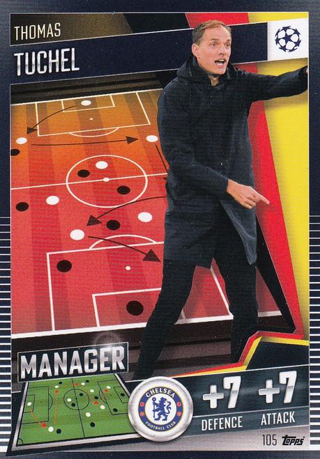 #105 Thomas Tuchel (Chelsea) Match Attax 101 2020/21 MANAGER