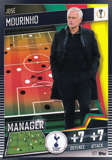 #107 José Mourinho (Tottenham Hotspur) Match Attax 101 2020/21 MANAGER