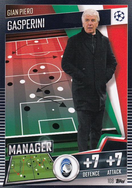 #108 Gian Piero Gasperini (Atalanta BC) Match Attax 101 2020/21 MANAGER