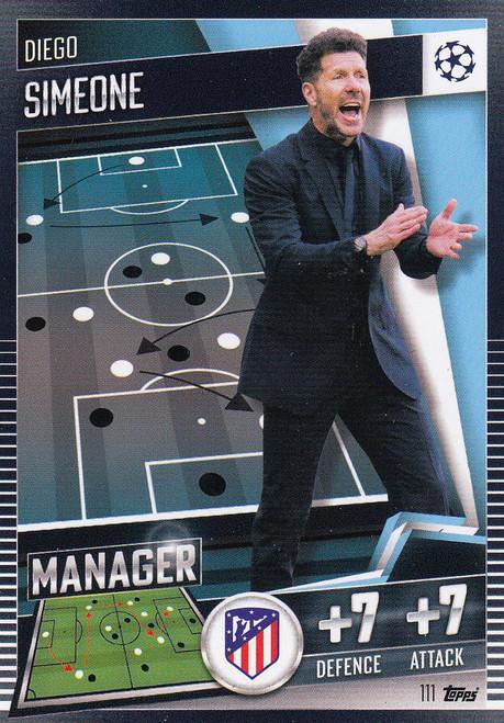 #111 Diego Simeone (Club Atlético de Madrid) Match Attax 101 2020/21 MANAGER