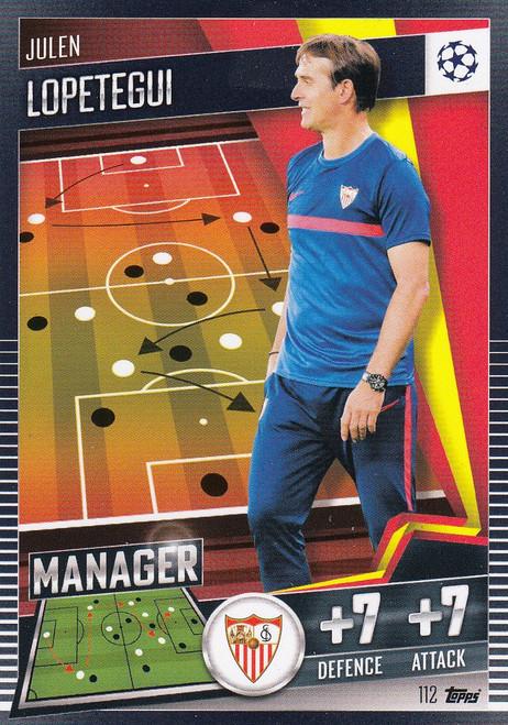 #112 Julen Lopetegui (Sevilla FC) Match Attax 101 2020/21 MANAGER