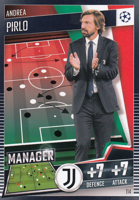 #114 Andrea Pirlo (Juventus) Match Attax 101 2020/21 MANAGER