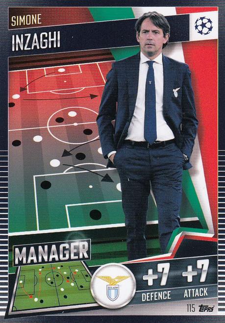 #115 Simone Inzaghi (SS Lazio) Match Attax 101 2020/21 MANAGER