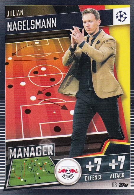 #118 Julian Nagelsmann (RB Leipzig) Match Attax 101 2020/21 MANAGER