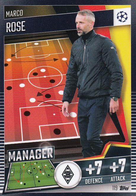 #119 Marco Rose (VfL Borussia Mönchengladbach) Match Attax 101 2020/21 MANAGER